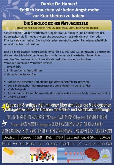 Die 5 Biologischen Naturgesetze-Die Dokumentation - 5BN.de